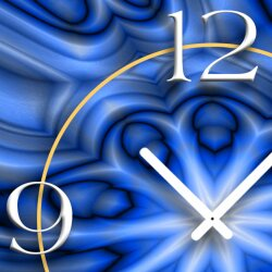 Abstrakt blau Designer Wanduhr modernes Wanduhren Design leise kein ticken DIXTIME 3D-0269