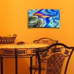 Abstrakt Farbverlauf bunt Designer Wanduhr modernes Wanduhren Design leise kein ticken DIXTIME 3D-0266
