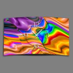 Abstrakt Farbverlauf bunt Designer Wanduhr modernes...