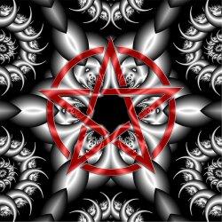 G009 Dekorfolie 100cm - Wandfolie Pentagramm Gothic...