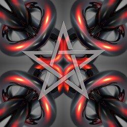 G008 Dekorfolie 100cm - Wandfolie Pentagramm Gothic...