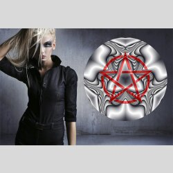 G006 Dekorfolie 100cm - Wandfolie Pentagramm Gothic...