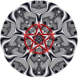 G005 Dekorfolie 100cm - Wandfolie Pentagramm Gothic...