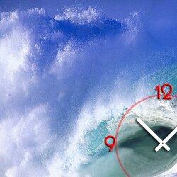 Wanduhr XXL 3D Optik Dixtime Meer Welle 50x70 cm leises Uhrwerk GR-023