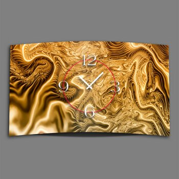 Abstrakt Digital Art gold  Designer Wanduhr modernes Wanduhren Design leise kein ticken DIXTIME 3D-0259