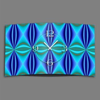 Abstrakt Muster blau türkis Designer Wanduhr modernes Wanduhren Design leise kein ticken DIXTIME 3D-0255