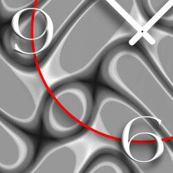 Abstrakt Muster grau Designer Wanduhr modernes Wanduhren Design leise kein ticken dixtime 3D-0251