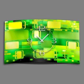 Retro grün Designer Wanduhr modernes Wanduhren Design leise kein ticken dixtime 3D-0247