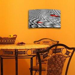 Psychodelic Techno grau Designer Wanduhr modernes Wanduhren Design leise kein ticken dixtime 3D-0244