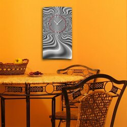 Abstrakt grau Designer Wanduhr modernes Wanduhren Design leise kein ticken dixtime 3D-0243