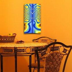 Psychodelic Techno  hochkant Designer Wanduhr modernes Wanduhren Design leise kein ticken dixtime 3D-0242