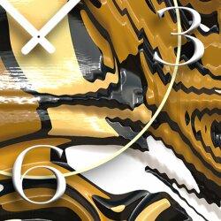 Abstrakt Schlange Designer Wanduhr modernes Wanduhren Design leise kein ticken  dixtime 3D-0240