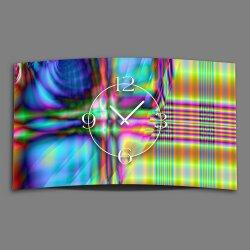 Psychodelic bunt Designer Wanduhr modernes Wanduhren...