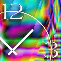 Psychodelic bunt Designer Wanduhr modernes Wanduhren Design leise kein ticken dixtime 3D-0238