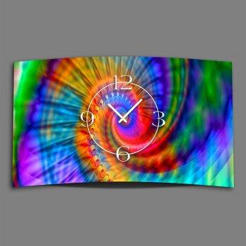 Psychodelic Regenbogen Designer Wanduhr modernes Wanduhren Design leise kein ticken dixtime 3D-0237
