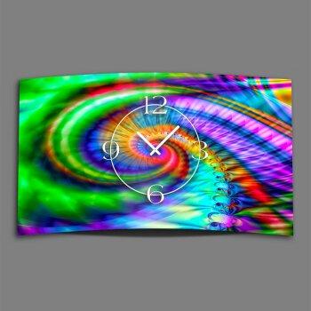 Psychodelic Spirale bunt Designer Wanduhr modernes Wanduhren Design leise kein ticken dixtime 3D-0236