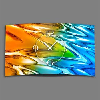 Abstrakt Farbverlauf Designer Wanduhr modernes Wanduhren Design leise kein ticken dixtime 3D-0234