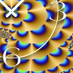 Retro Psychodelic Designer Wanduhr modernes Wanduhren Design leise kein ticken dixtime 3D-0233