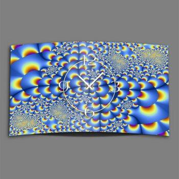 Retro psychodelic Designer Wanduhr modernes Wanduhren Design leise kein ticken dixtime 3D-0232