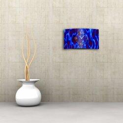 Abstrakt blau lila  Designer Wanduhr modernes Wanduhren Design leise kein ticken dixtime 3D-0167