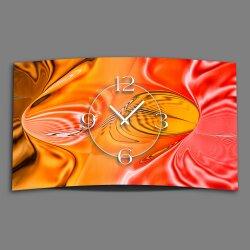 Abstrakt apricot pfirsich orange  Designer Wanduhr...