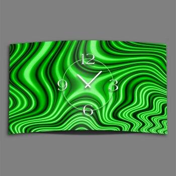 Abstrakt grün marmoriert Designer Wanduhr modernes Wanduhren Design leise kein ticken dixtime 3D-0225