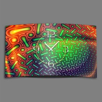 Psychedelic bunt Designer Wanduhr modernes Wanduhren Design leise kein ticken dixtime 3D-0223