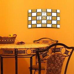 Retro weiß beige Designer Wanduhr modernes Wanduhren Design leise kein ticken dixtime 3D-0222