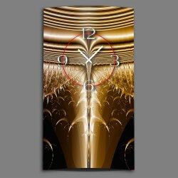 Abstrakt kupfer bronze braun Designer Wanduhr modernes...