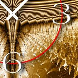 Abstrakt kupfer bronze braun Designer Wanduhr modernes Wanduhren Design leise kein ticken dixtime 3D-0218