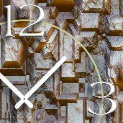 Gestein Designer Wanduhr modernes Wanduhren Design leise kein ticken dixtime 3D-0216