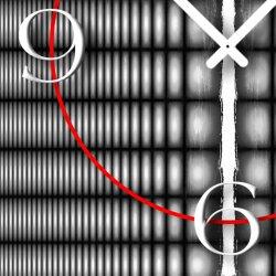 Abstrakt schwarz grau Designer Wanduhr modernes Wanduhren Design leise kein ticken dixtime 3D-0215