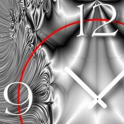 Psychedelic silbergrau Designer Wanduhr modernes Wanduhren Design leise kein ticken dixtime 3D-0214