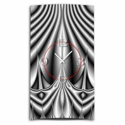 Abstrakt grau Designer Wanduhr modernes Wanduhren Design leise kein ticken dixtime 3D-0213