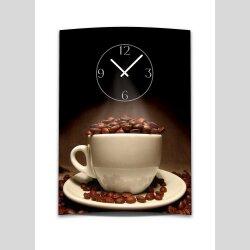 Wanduhr XXL 3D Optik Dixtime Kaffee Tasse Bohnen 50x70 cm...