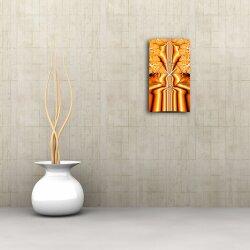 Psychedelic orange  Designer Wanduhr modernes Wanduhren Design leise kein ticken dixtime 3D-0212