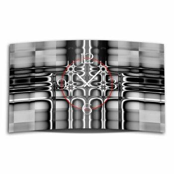 Abstrakt grau schwarz Designer Wanduhr modernes Wanduhren Design leise kein ticken dixtime 3D-0208