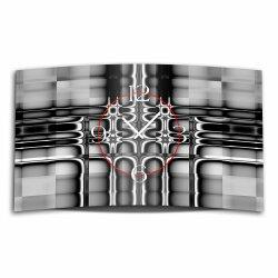Abstrakt grau schwarz Designer Wanduhr modernes Wanduhren...