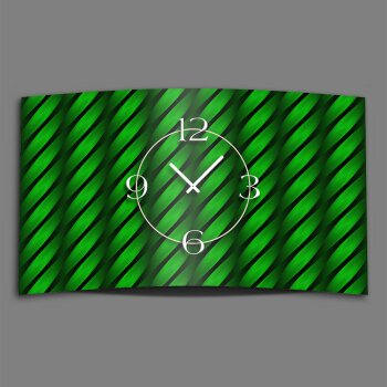 Abstrakt Welle grün Designer Wanduhr modernes Wanduhren Design leise kein ticken dixtime 3D-0207