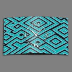 Abstrakt Labyrinth türkis Designer Wanduhr modernes...