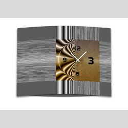 Wanduhr XXL 3D Optik Dixtime modern grau braun 50x70 cm...