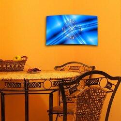 Abstrakt blau Designer Wanduhr modernes Wanduhren Design leise kein ticken dixtime 3D-0198