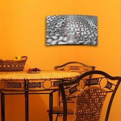 Psychodelic grau Designer Wanduhr modernes Wanduhren Design leise kein ticken dixtime 3D-0195