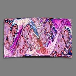 Psychodelic pink Designer Wanduhr modernes Wanduhren...