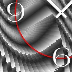 Abstrakt grau Stufen Designer Wanduhr modernes Wanduhren Design leise kein ticken dixtime 3D-0190
