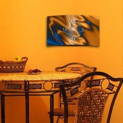 Abstrakt kobaltblau kupfer  Designer Wanduhr modernes Wanduhren Design leise kein ticken dixtime 3D-0187