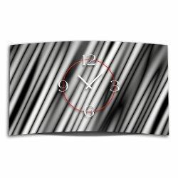 Abstrakt Streifen grau Designer Wanduhr modernes...