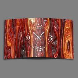 geschmolzenes Glas rot Designer Wanduhr modernes...