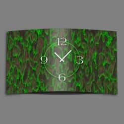 Abstrakt grün anthrazit Designer Wanduhr modernes...