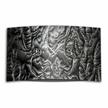Metall Gestein Skulptur Designer Wanduhr modernes Wanduhren Design leise kein ticken dixtime 3D-0181